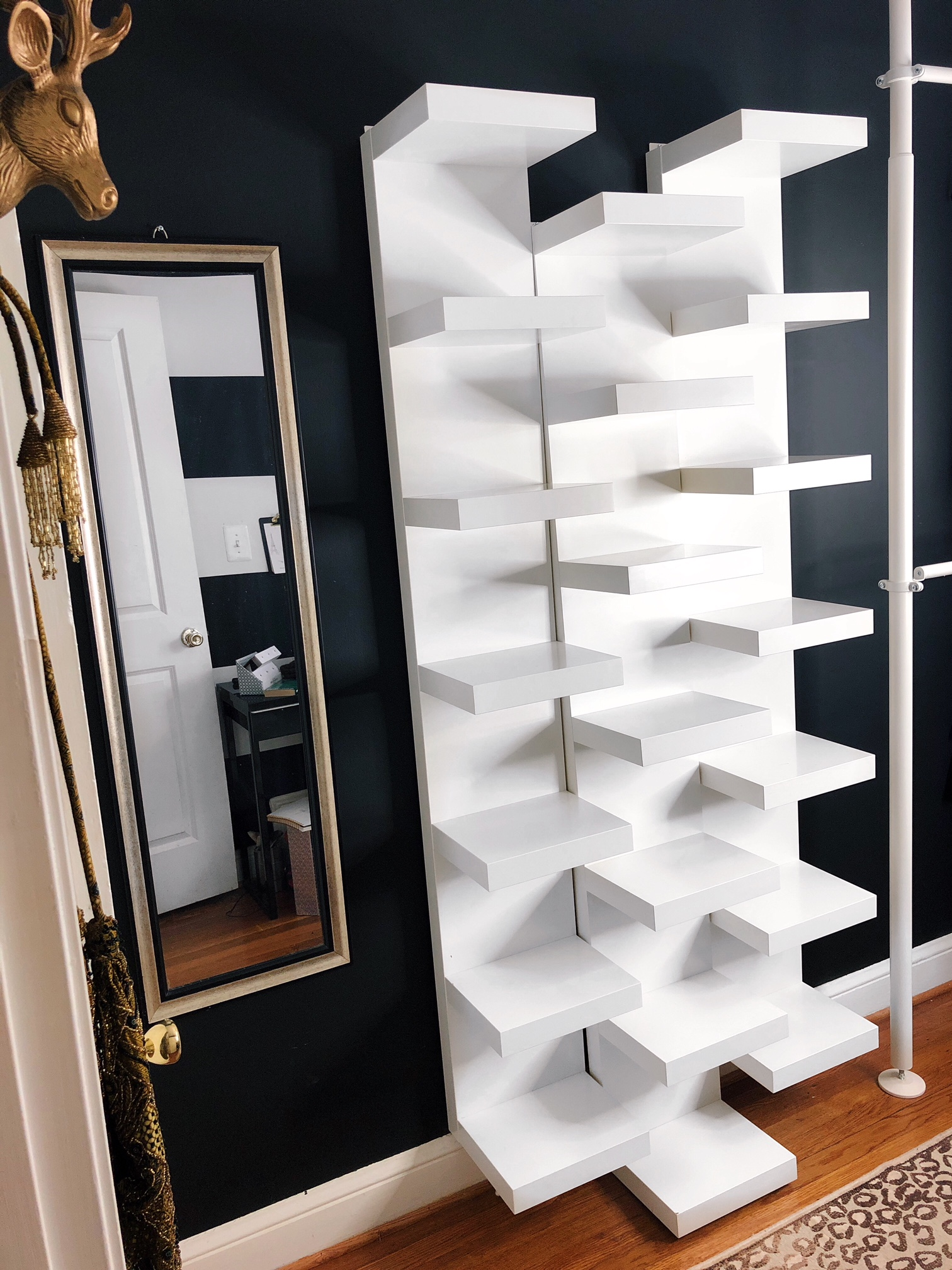 the ultimate shoe organization for small spaces wall floating shelves shoes empty using ikea lack shelf storage corner unit block paving solar lights wooden shelving white living