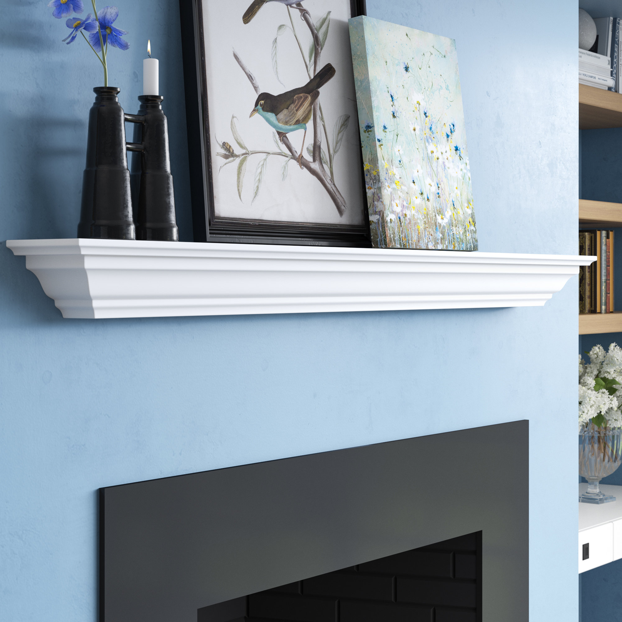 three posts almendarez crown moulding wall shelf molding floating dark wood coat hooks white with vinyl tile flooring installation shower mixer set large bookshelf plans closet