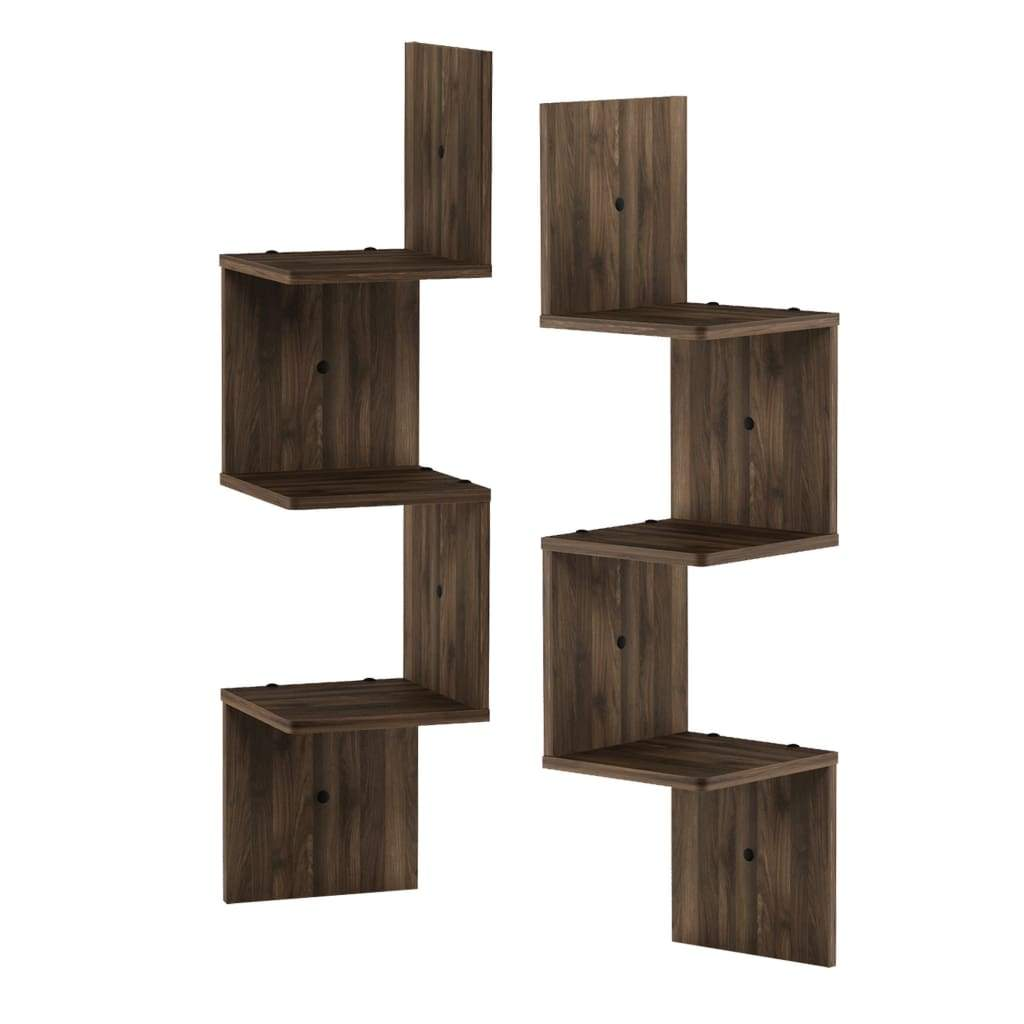tier set wall mount floating corner square shelf columbia walnut accent all color multicolor furinno racks shelves furniture casagear capri fur shaped desk black rod iron pegs for