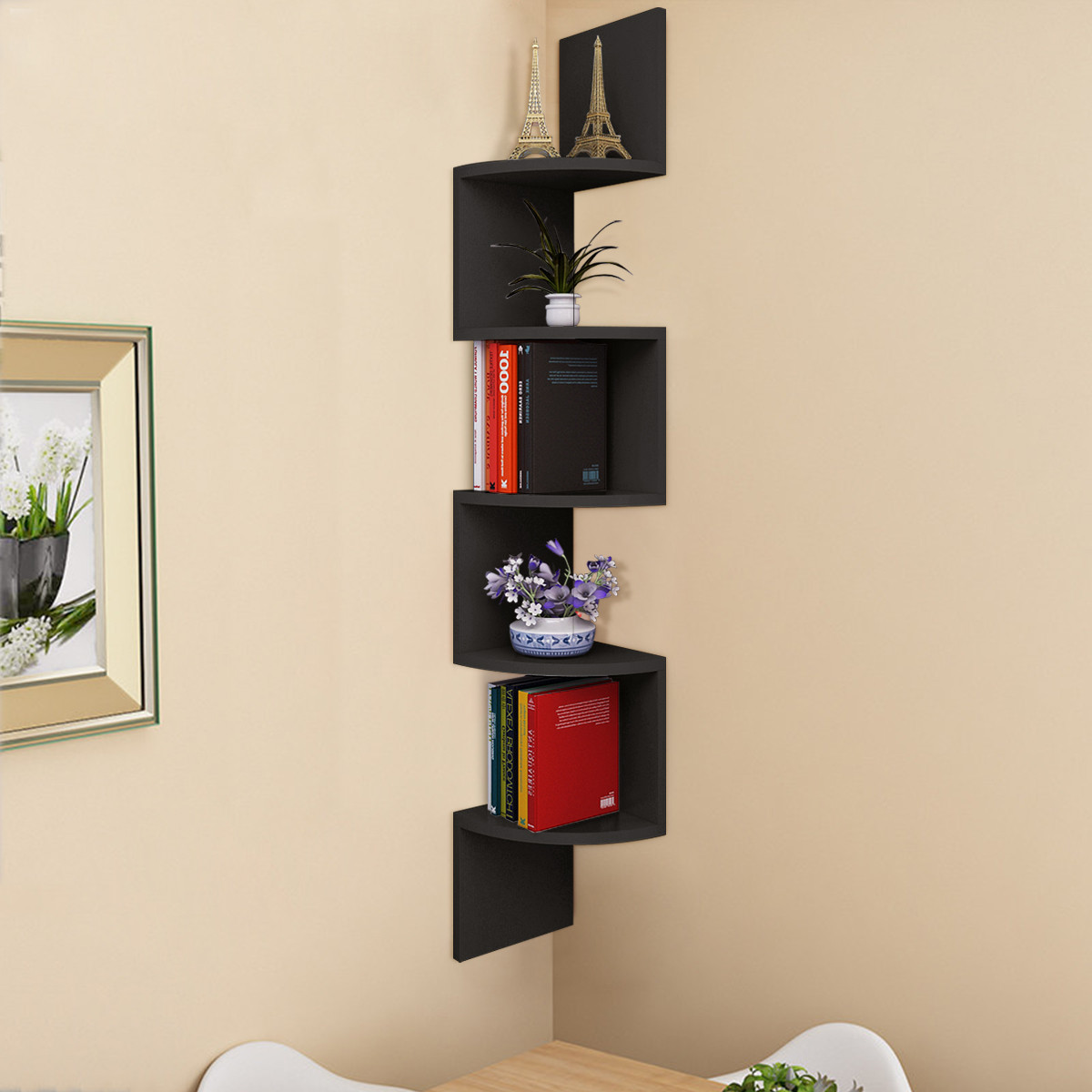 tier wall mount corner shelf floating shelves storage display mounted books home decor bracket modern kitchen dresser with secret compartment unfinished shelving boards component