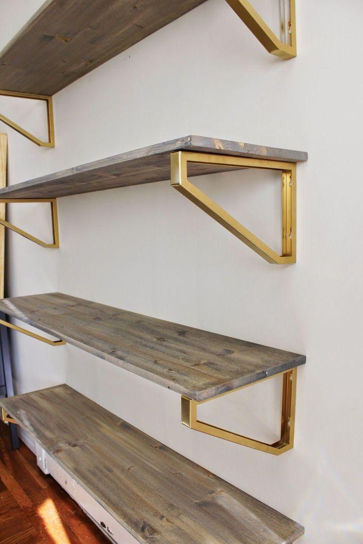 tips ideas interesting floating shelves material design with shelving brackets black metal for install without brass bracket bookshelves timber shelf diy wooden cube small garage