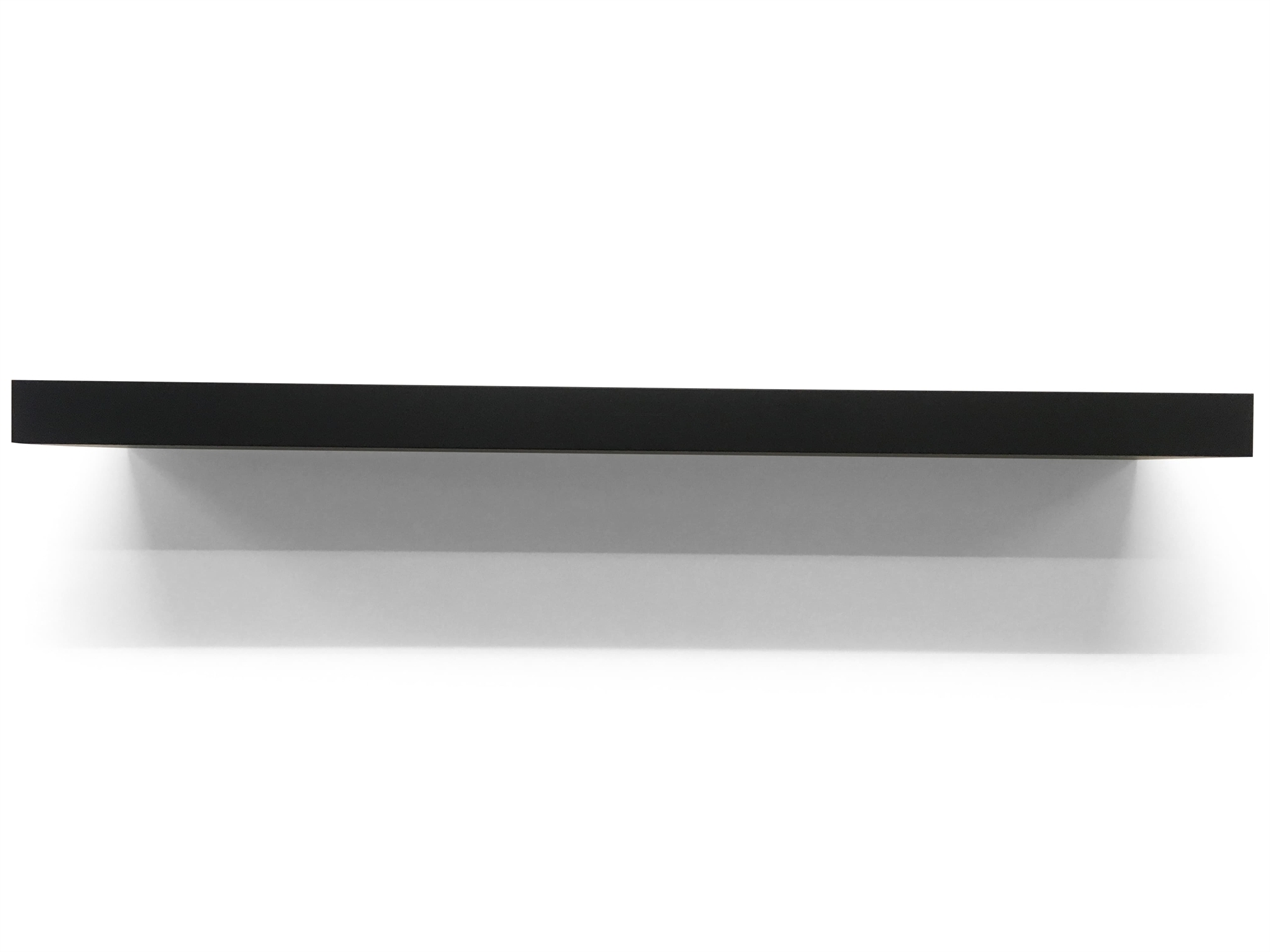 top shelf gallery floating shelves high gloss white chunky matt black laminated thick deep long hardware glass support rails heavy duty pins ikea storage unit expedit boxes
