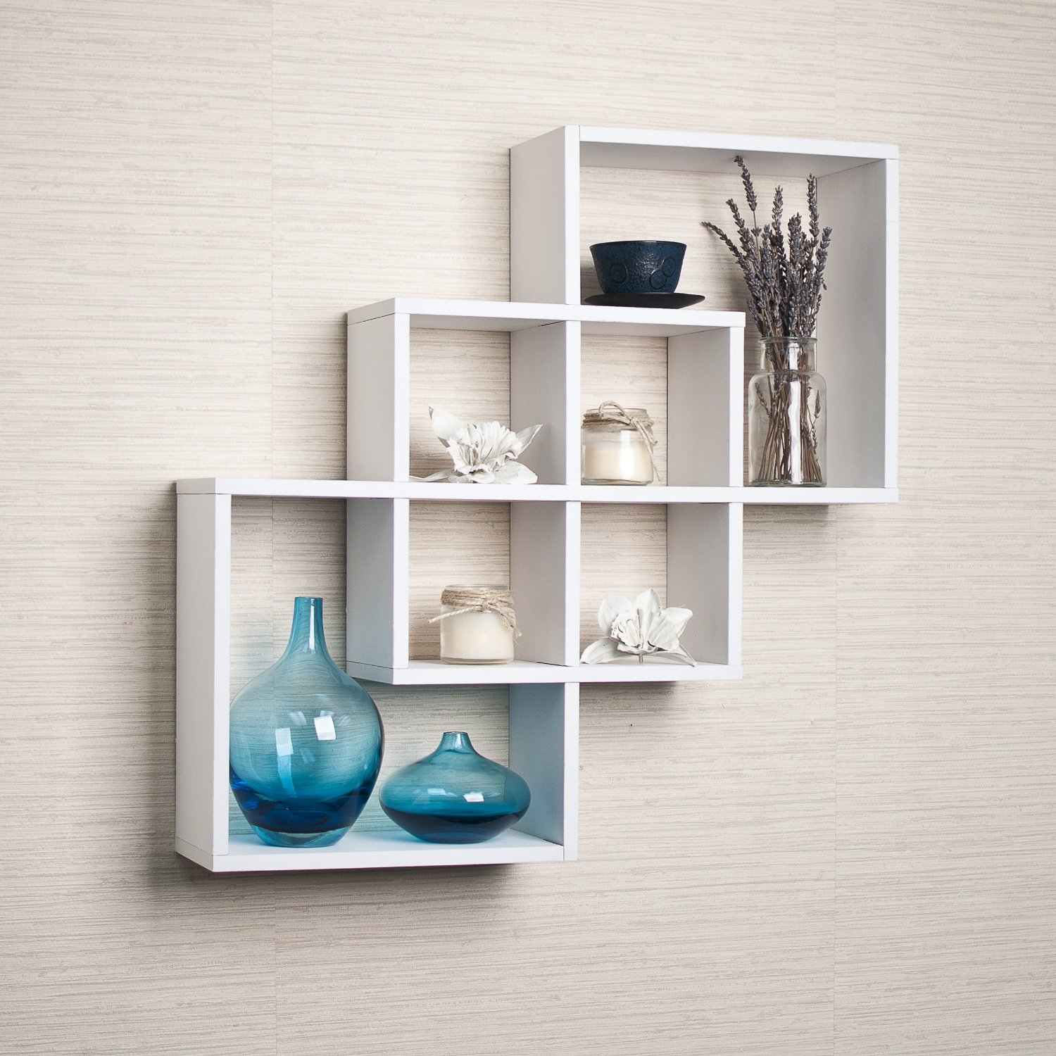 top white floating shelves for home interiors intersecting shelf large corner your simple open kitchen unfinished shelving boards bathroom with rail rolling baby monitor wall