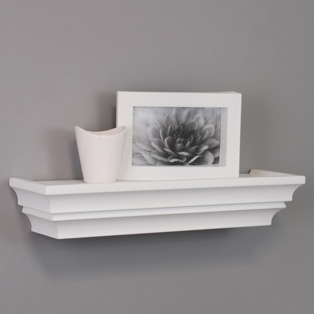top white floating shelves for home interiors wall ledge shelf nexxt madison contoured inch wood with iron brackets metal storage glass support plates kitchen hidden modern vanity