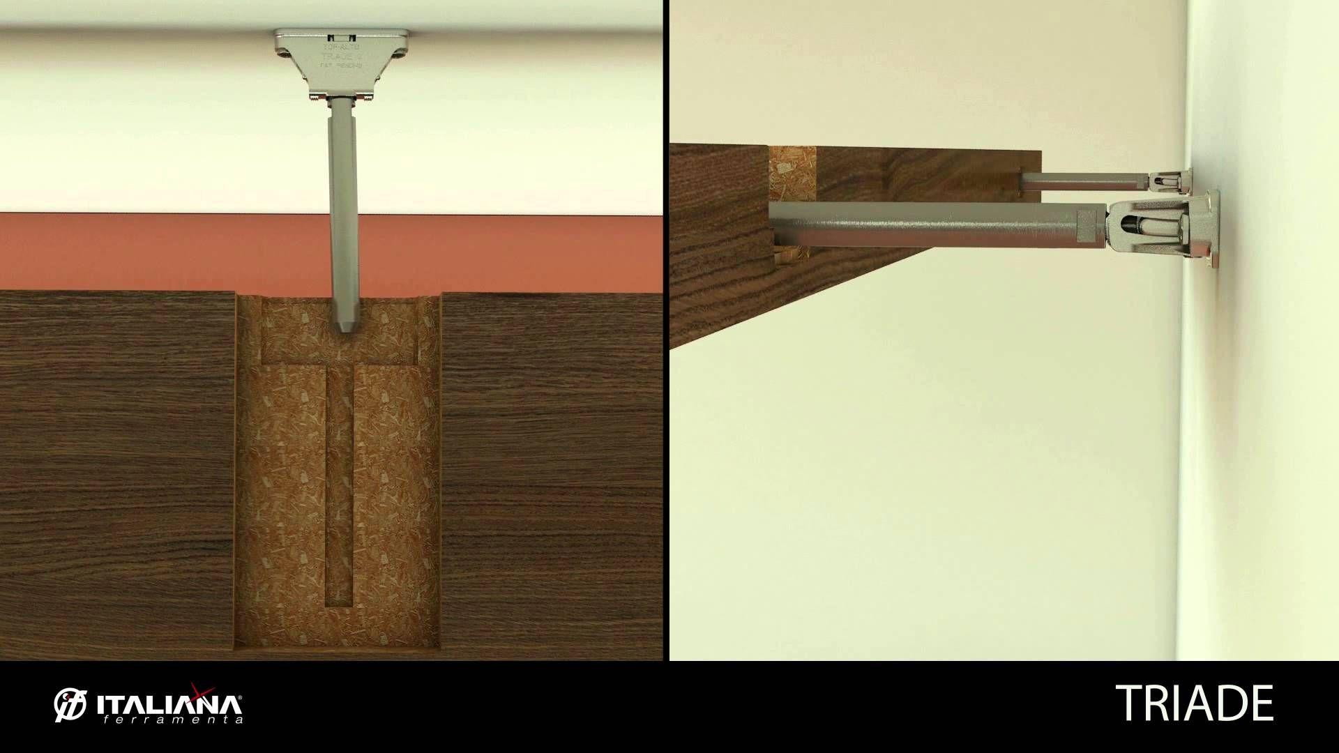 triade concealed shelf support shelving system italiana brackets hidden floating ferramenta interior design ideas battery powered night light rustic kitchen shelves triangle