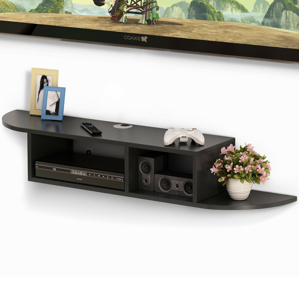 tribesigns cable boxes wall mount floating shelf console wood for box details about black iron corbels target kitchen island glass component command strips weight shelves friday