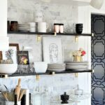 tricks make small kitchen look bigger kuchnia black floating shelves inch bathroom shelf laminate countertop ideas art deco ceiling light diy hanging wall shelving support clips 150x150
