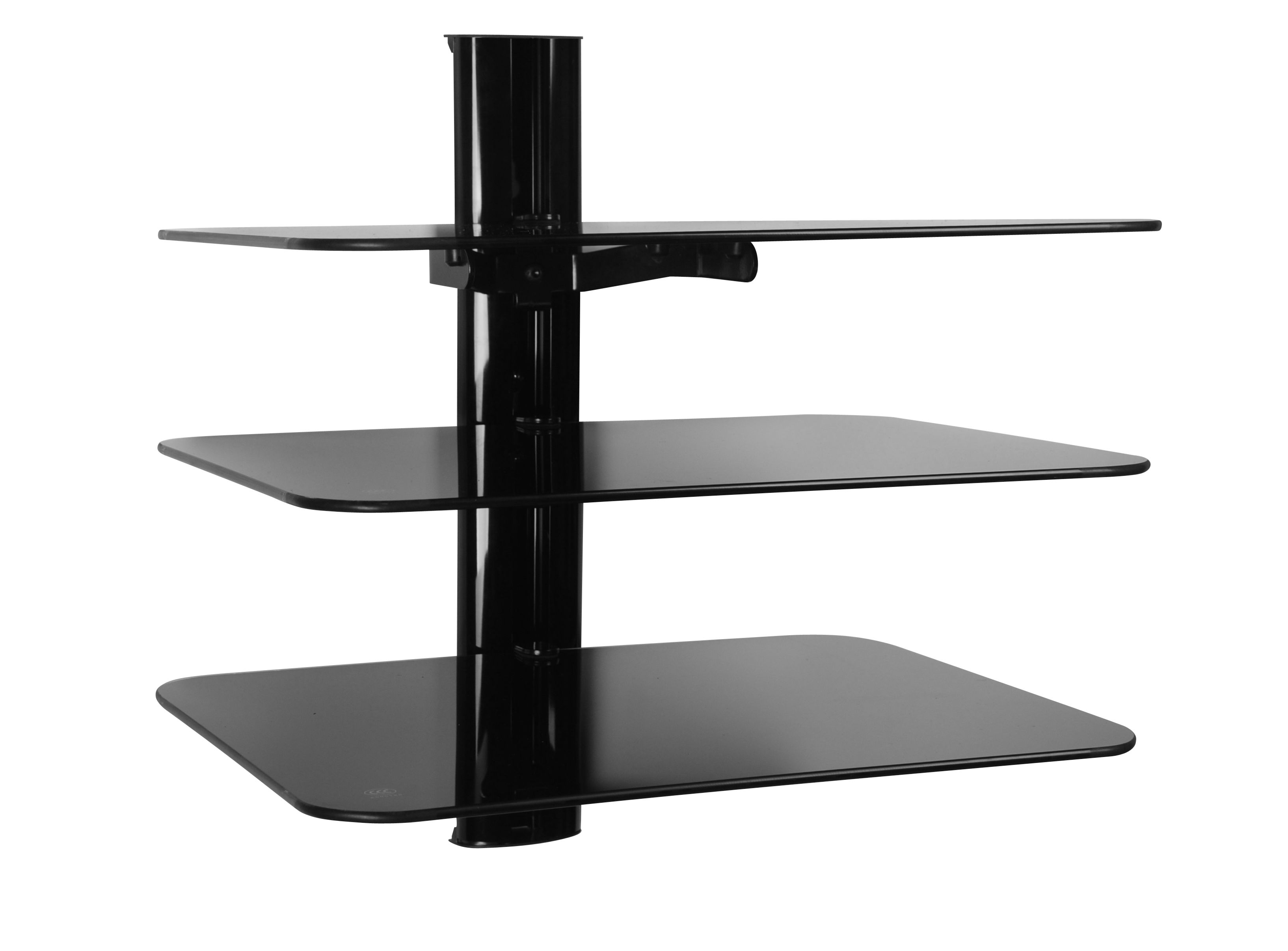 triple glass shelving system dsc floating shelf wall mount black mounted shelves scrap wood kitchen worktop oak unit and bookshelf simple shoe rack can use underlay with vinyl
