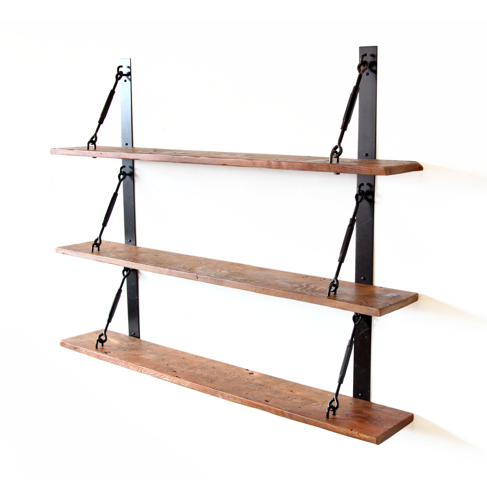 turnbuckle shelves thechurchoffashion floating shelf brackets strap ebonized black salvaged timber inch wide storage kitchen container rack beam mantles concealed mantel media