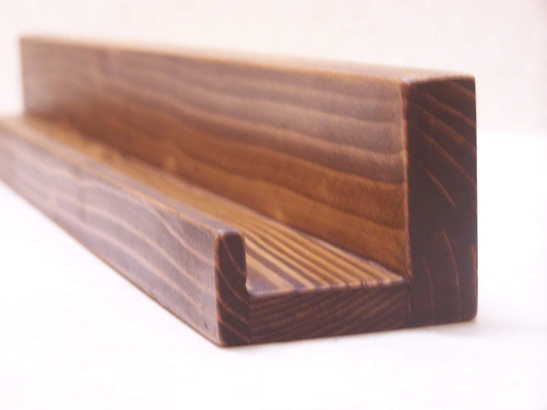 ultra narrow inch floating ledge shelf ture you choose your length dark walnut finish handmade built bookshelves design ideas brackets vancouver coffee with hooks space saving