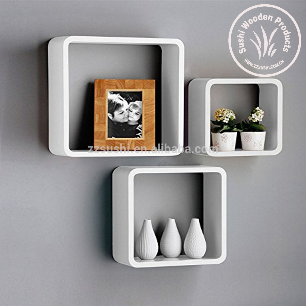 uniifurn square wall shelves rounded corner set white floating shelf bathroom storage cabinet inch crown molding heavy duty kitchen wood with towel bar diy book big island seating
