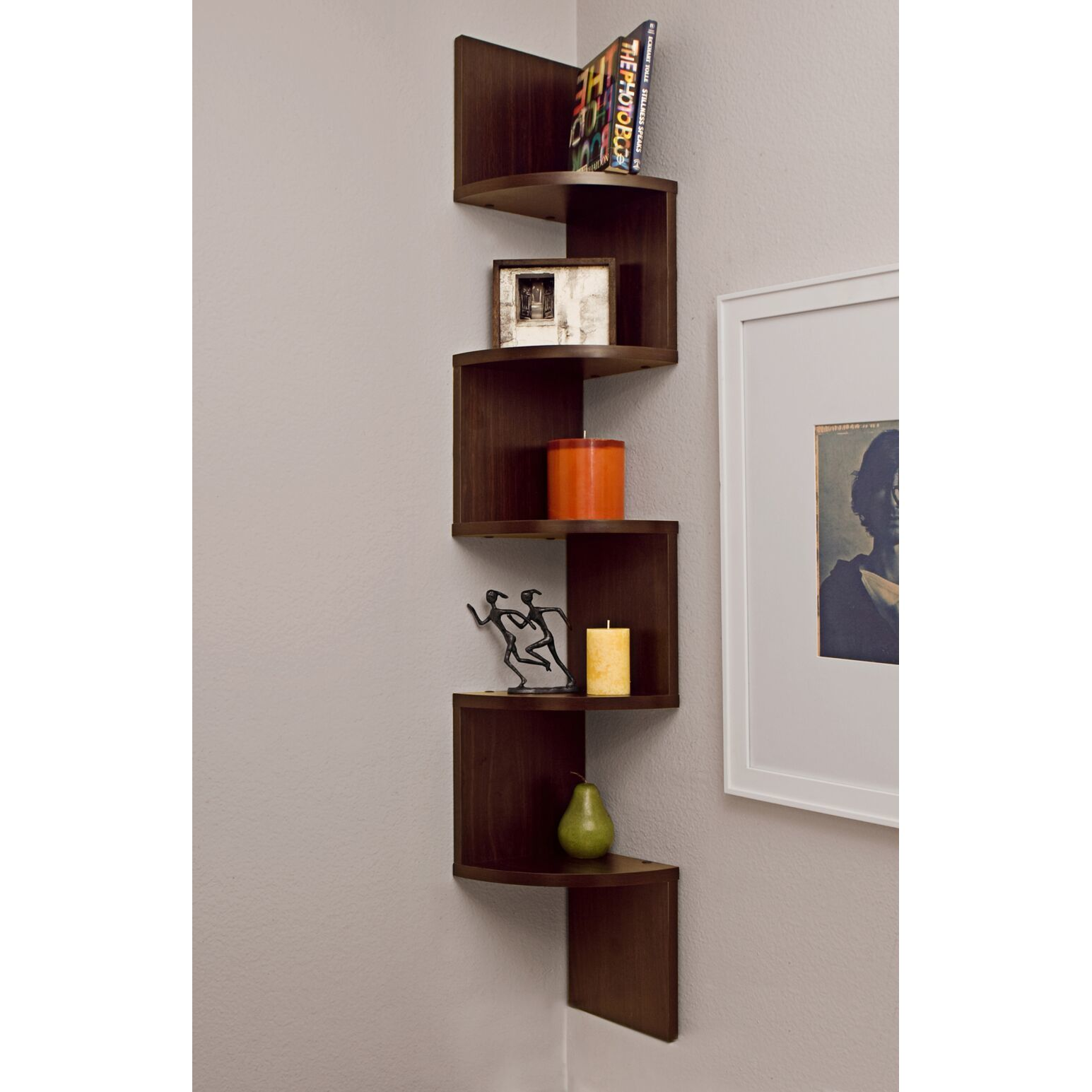 veneer corner wall mount shelf free shipping orders over danya large decorative tier floating display shelving unit hidden mantel brackets bearing customs office wooden bathroom