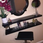 very own diy vanity made using floating shelves makeup granite breakfast bar support garage shelving bracket ideas shelf storage custom open kitchen ikea bookshelf cube prepac 150x150