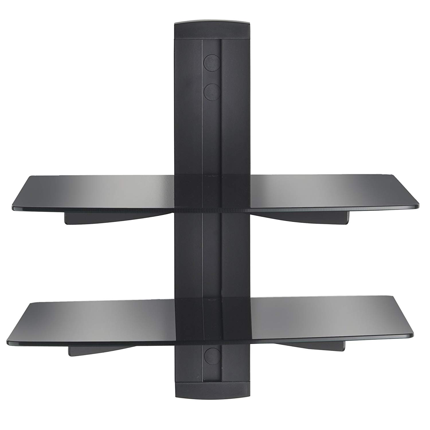 vonhaus black floating shelves with strengthened shelf instructions tempered glass for dvd players cable boxes games consoles accessories home kitchen wall mounted shelving units