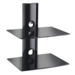 vonhaus floating shelves wall mounted bracket for dvd sky box black shelf instructions sentinel glass mount blu ray player ikea white television table stand sneaker storage ideas 150x150