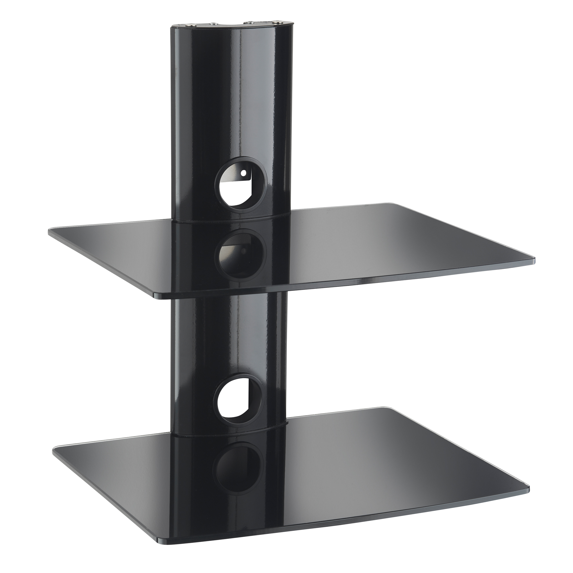 vonhaus floating shelves wall mounted bracket for dvd sky box black shelf instructions sentinel glass mount blu ray player ikea white television table stand sneaker storage ideas