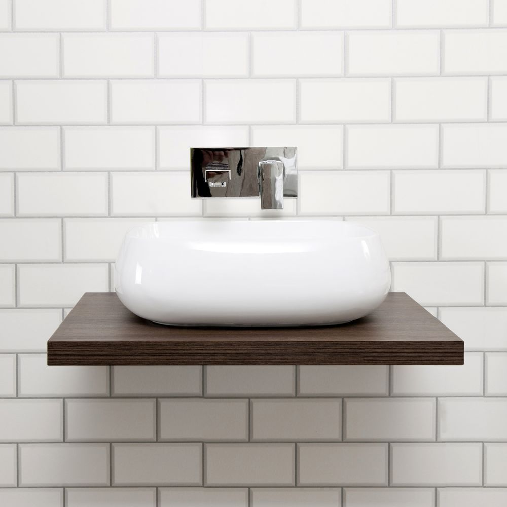wall hung walnut wood floating shelf countertop vessell basin sink bathroom bottle trap chrome bath with towel bar foot ikea ribba ture ledge white stain steel shelves doors