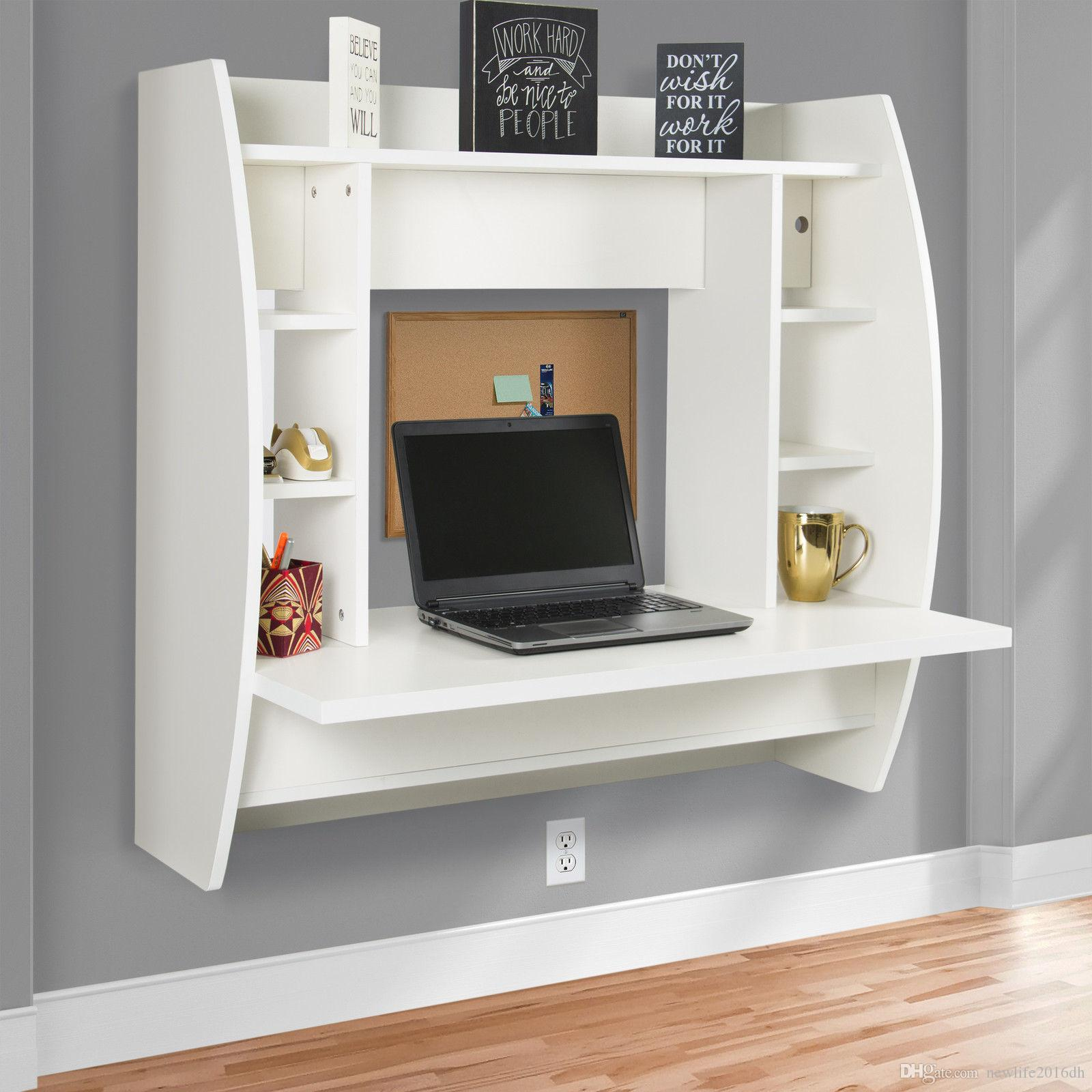 wall mount floating computer desk with storage shelves home shelf work station white from dhgate hanging bathroom cabinet over toilet multi tier corner glass display built closet