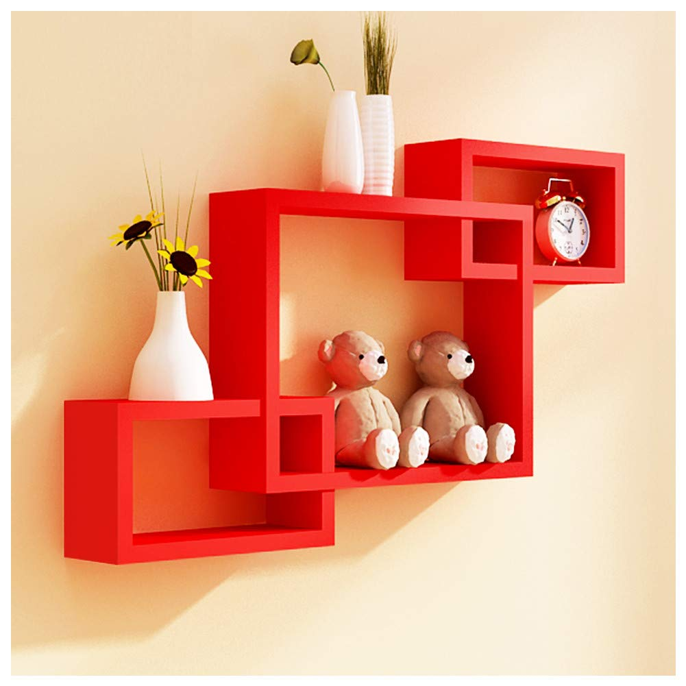 wall mount intersecting box shelf floating red shelves bookshelf home decoration black white color bathroom storage decor seater sofa argos reclaimed over desk extra large hanging