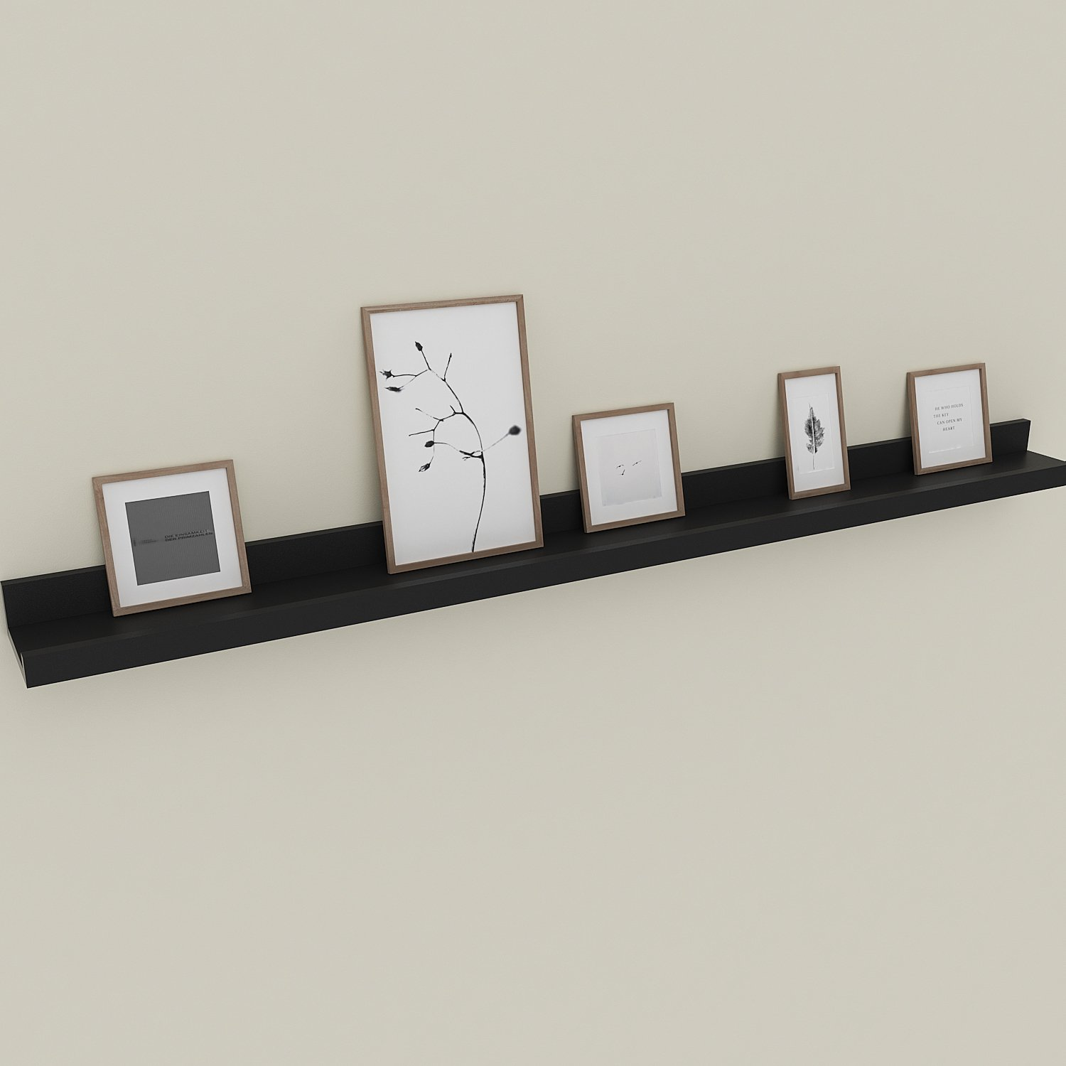 wall mounted floating shelf display ledge for shelves ture frames book black home kitchen command strips heavy ikea pegs oak corbels unit storage cube from can you hang tures