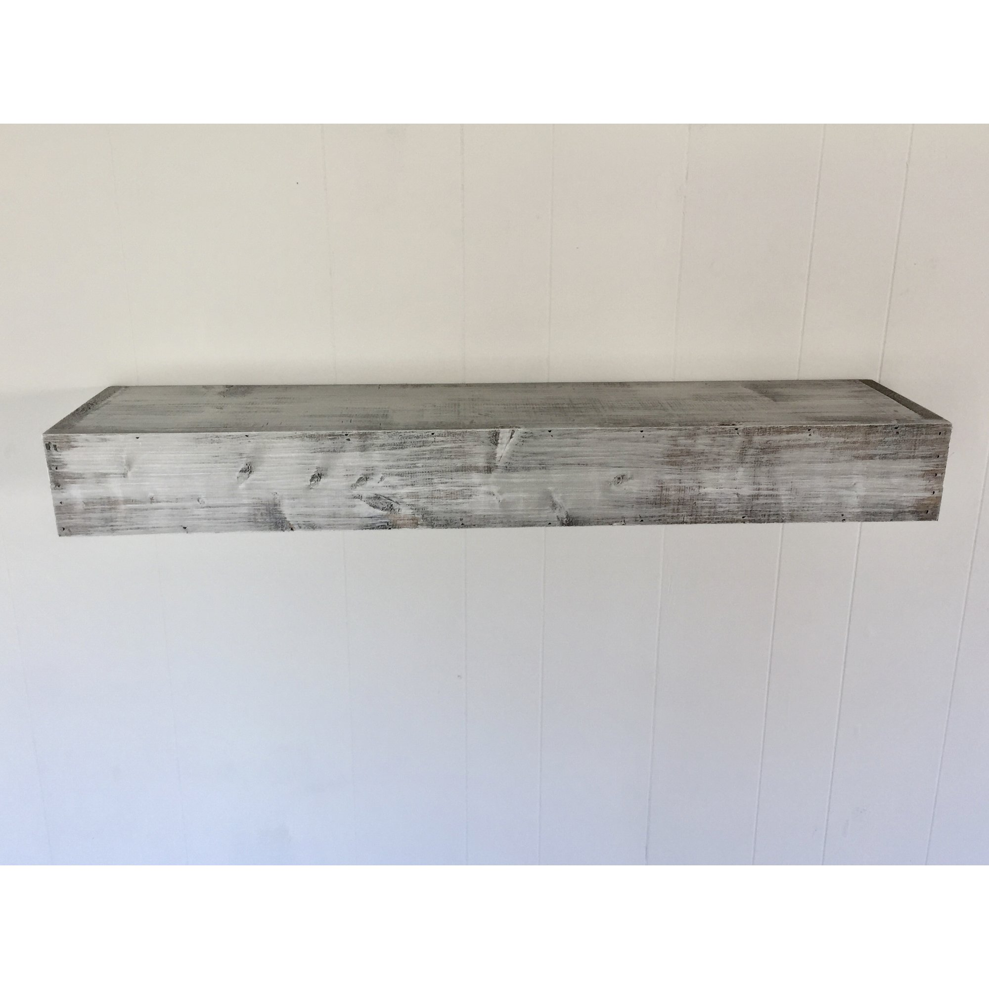 wall shelves with hooks you love floating shelf shabby white solid wood handmade rustic style gray quick view canadian tire toronto vanity stools target diy hang ture without