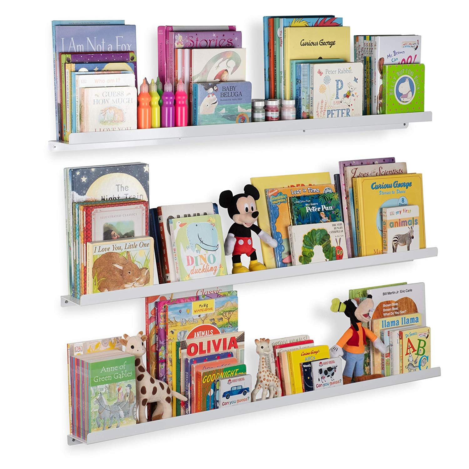 wallniture floating shelves for nursery and metal wall bookshelves mount book display ledges aluminum white inch set home kitchen coloured glass low shoe storage small corner