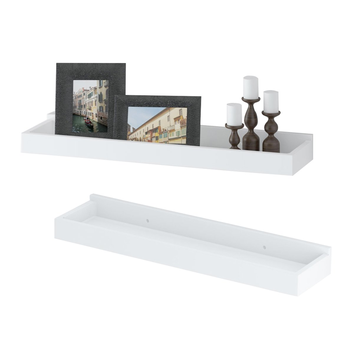 wallniture modern floating shelf tray wall mount home white shelves decor inch set kitchen laying stick tile reclaimed wood bathroom garage tool organizer rack metal ladder corner