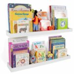 wallniture philly nursery bookshelf floating book bookshelves shelves for kids room inch ture ledge tray toy storage display white set adhesive curtain rod small corner bakers 150x150