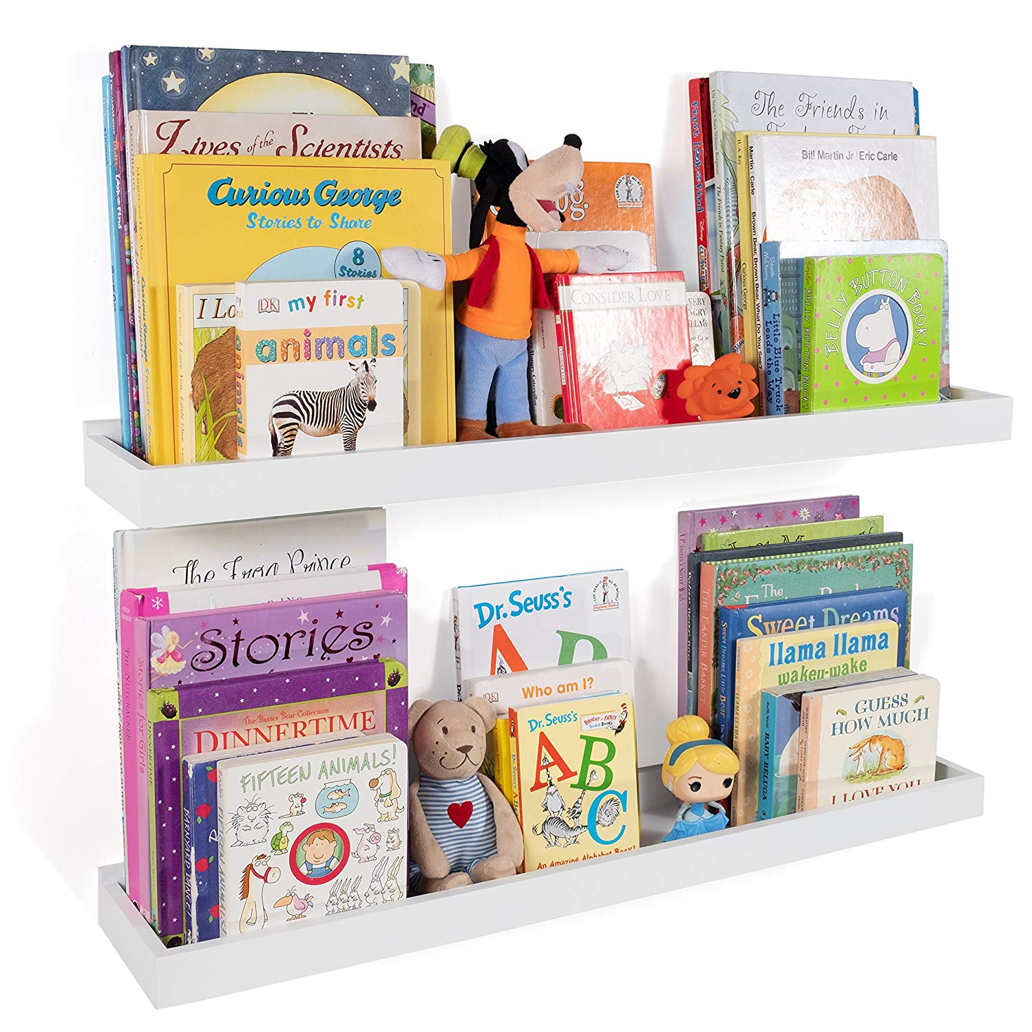wallniture philly nursery bookshelf floating book bookshelves shelves for kids room inch ture ledge tray toy storage display white set adhesive curtain rod small corner bakers