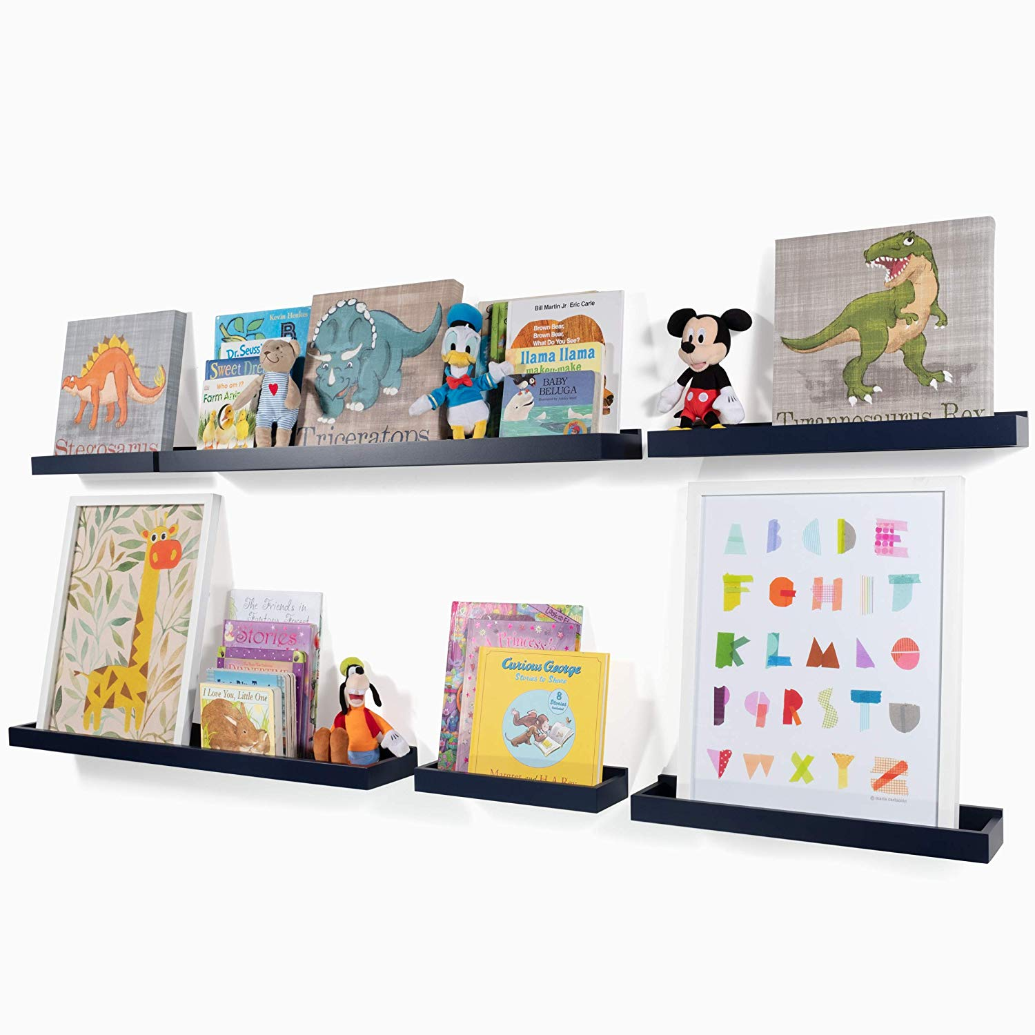 wallniture philly varying sizes floating shelves trays kgwl bookshelves nursery and display modern wood shelving units for kids bedroom navy home bunnings cube unit office desk