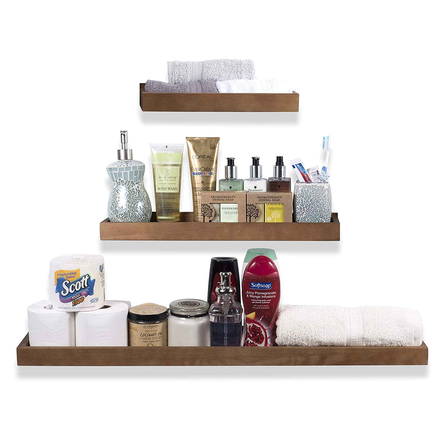 wallniture philly varying sizes floating shelves trays wood shelf bathroom bookshelves and display bookcase modern shelving for kids room nursery wall mounted quirky brackets