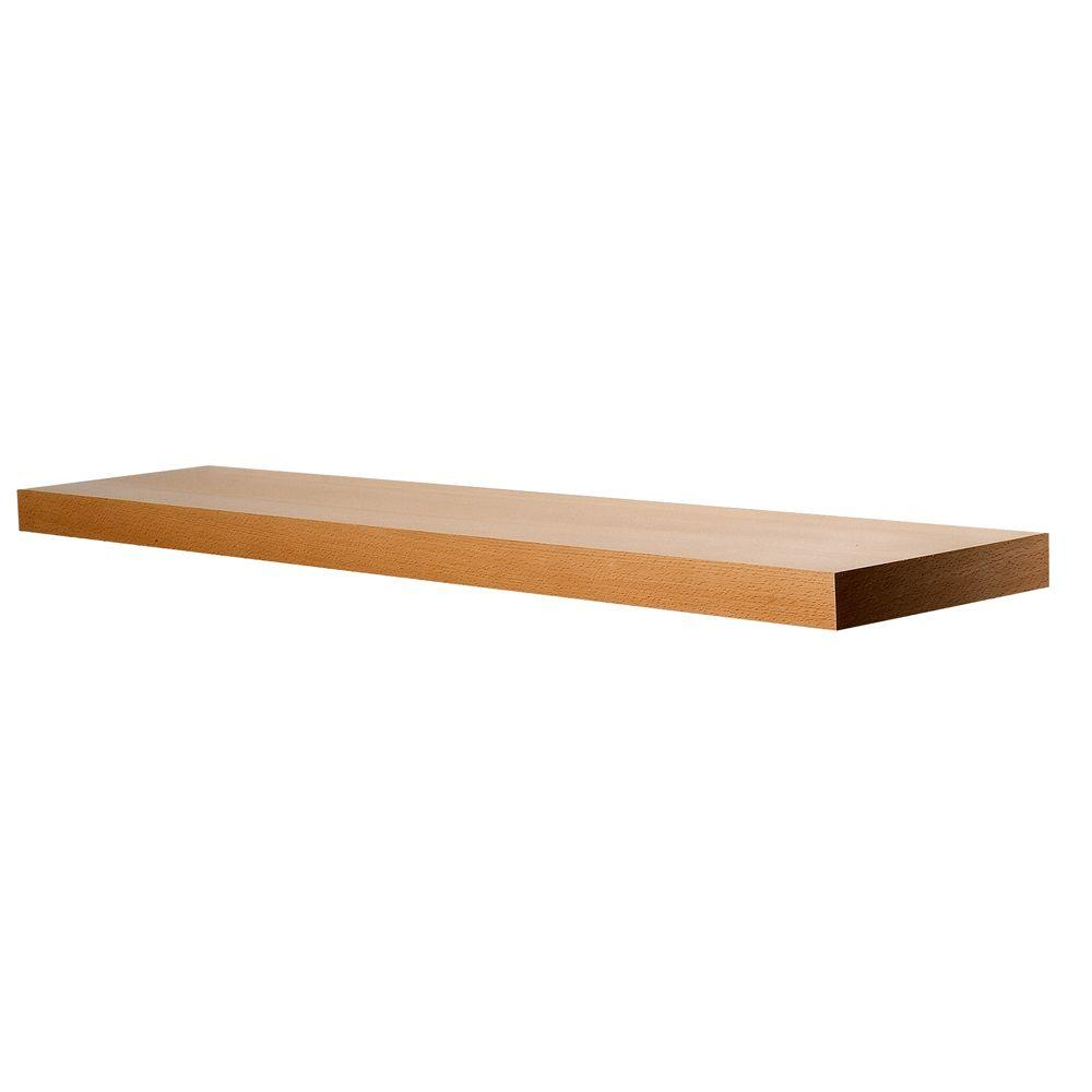 wallscapes beech wood veneer straight light brown closet shelves floating shelf kit varies length the and hook wall mount pre made fireplace mantels horizontal shoe storage open
