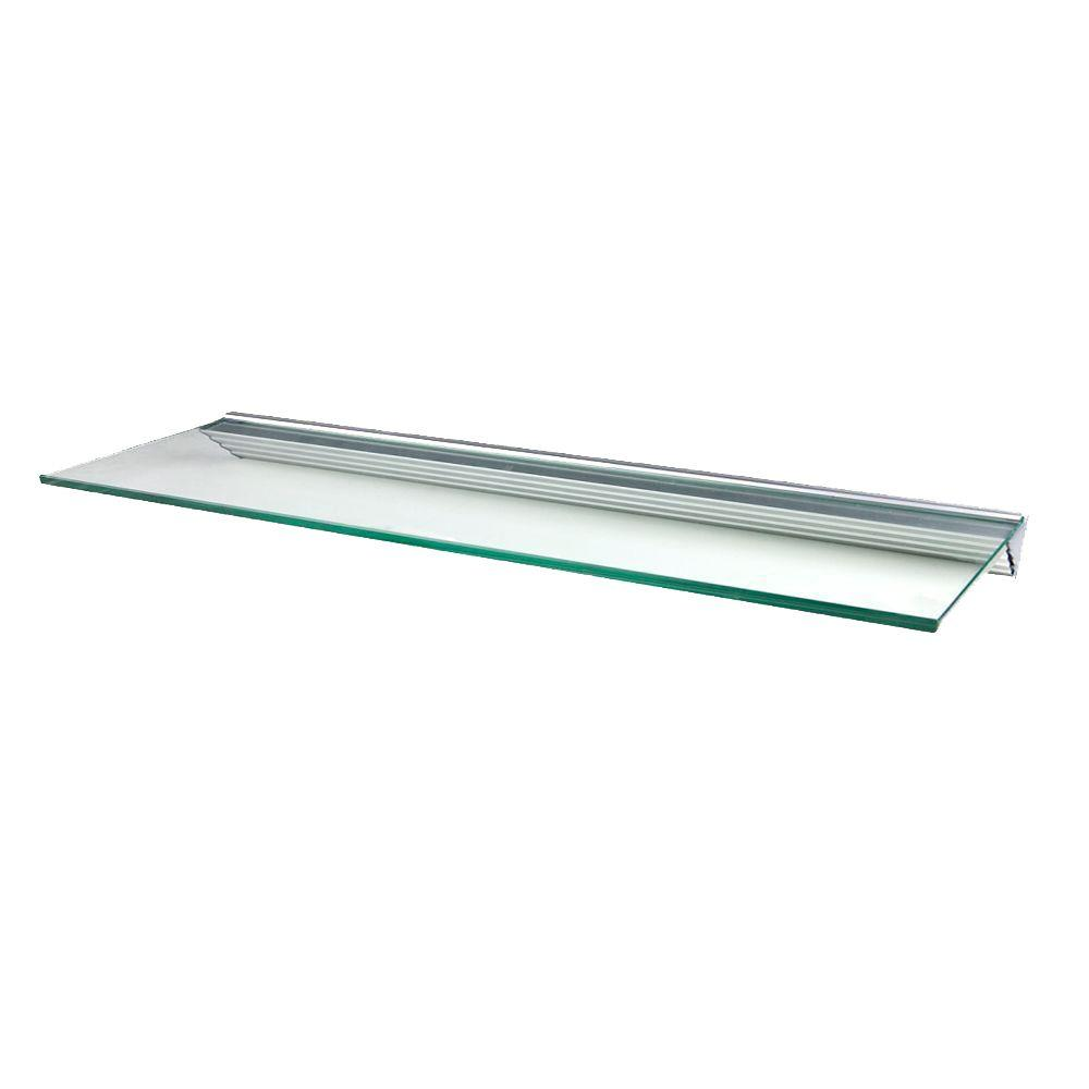 wallscapes glacier clear glass shelf with silver decorative shelving accessories floating supports metal and shelves wall steel countertop bracket hangers brushed brackets lane