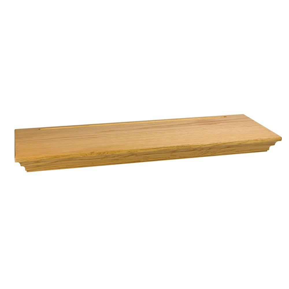 wallscapes woodridge floating shelf kit light brown wood decorative shelving accessories varies finish length accent shelves ikea shoe cabinet pairs drawer high gloss black set
