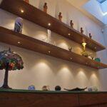 walnut floating shelves with led lights light shelf black wood and metal coat rack cream wall hanging desk drawer portable kitchen island sink vanity reclaimed office furniture 150x150