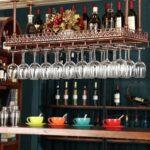 warm van industrial vintage metal bar wine glass hanging floating shelves for rack retro upside down stemware goblet holder tableware bottle shelf home danish armchair wall 150x150