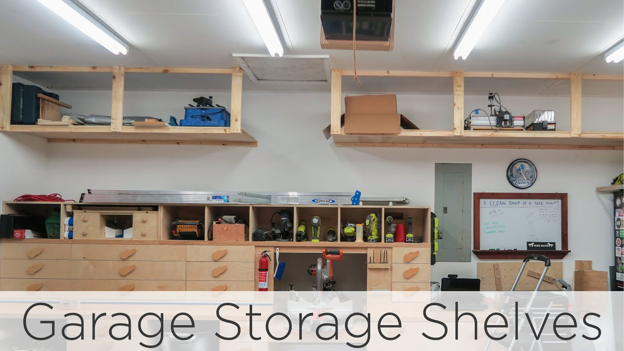 wasted space garage storage shelves floating for game consoles kitchen system bathroom sink designs wire shelving unit wall melbourne diy beam mantel glass front cabinets shelf