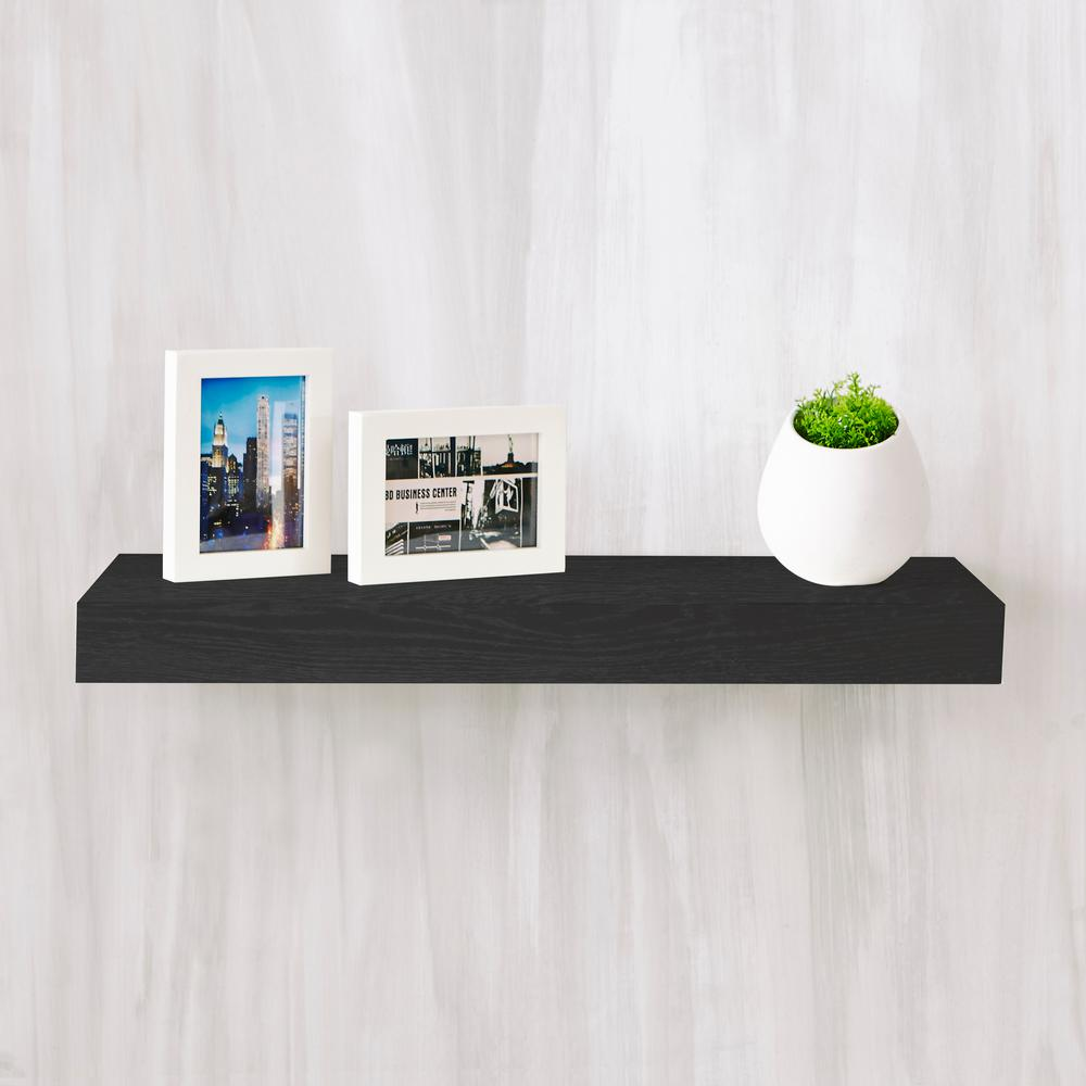 way basics ravello zboard paperboard wall shelf black decorative shelving accessories inch floating espresso wooden beam mantle piece french cleat kitchen cabinet rack restoration