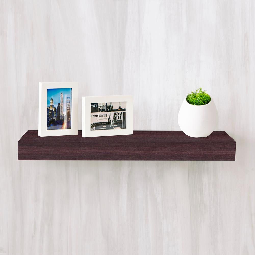 way basics ravello zboard paperboard wall shelf espresso decorative shelving accessories floating kitchen shelves natural white the invisible support systems closet builder small