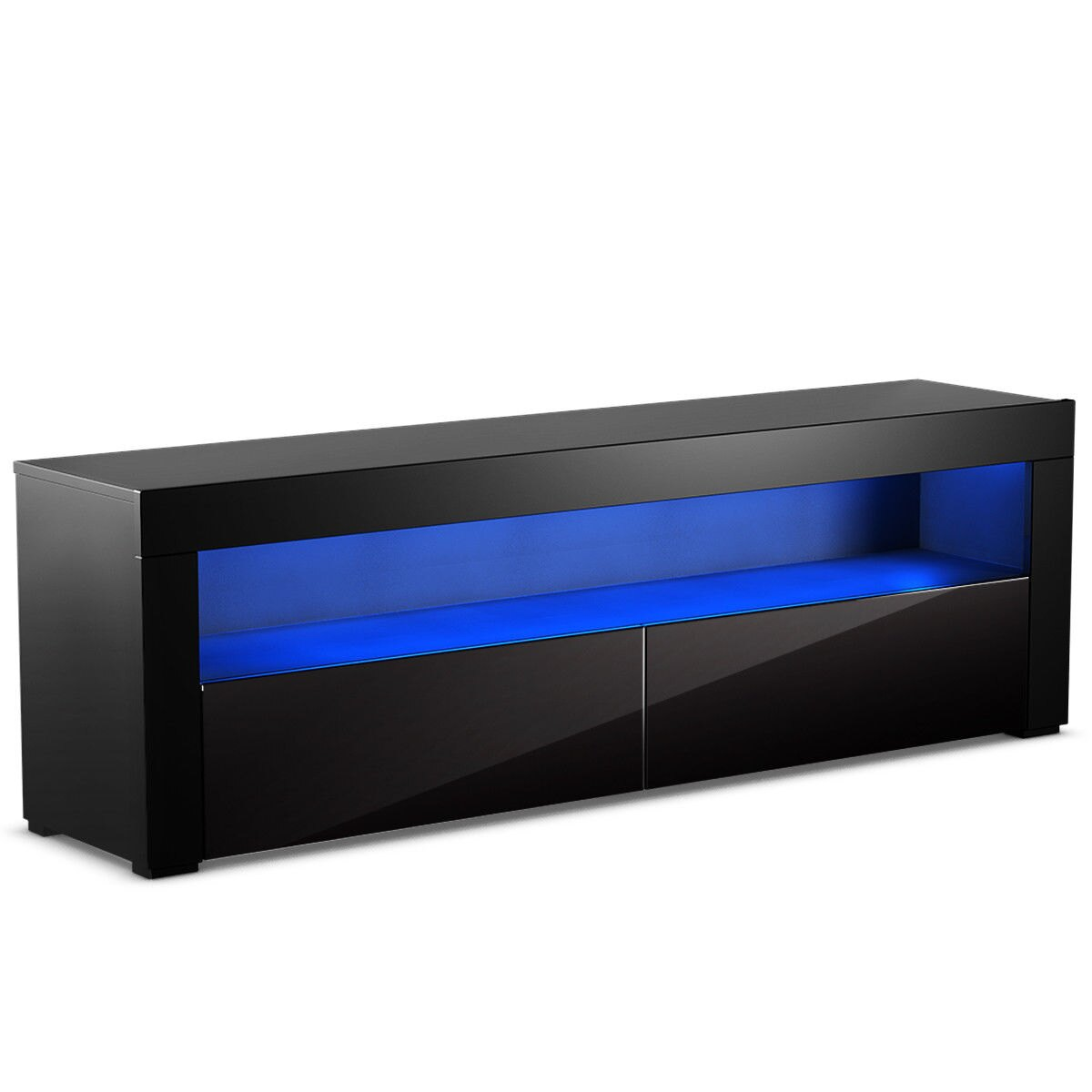 way high gloss stand unit cabinet console furniture floating drawer shelf black led shelves and drawers concealed storage cube bookcase bunnings wall mounted shoe built crown