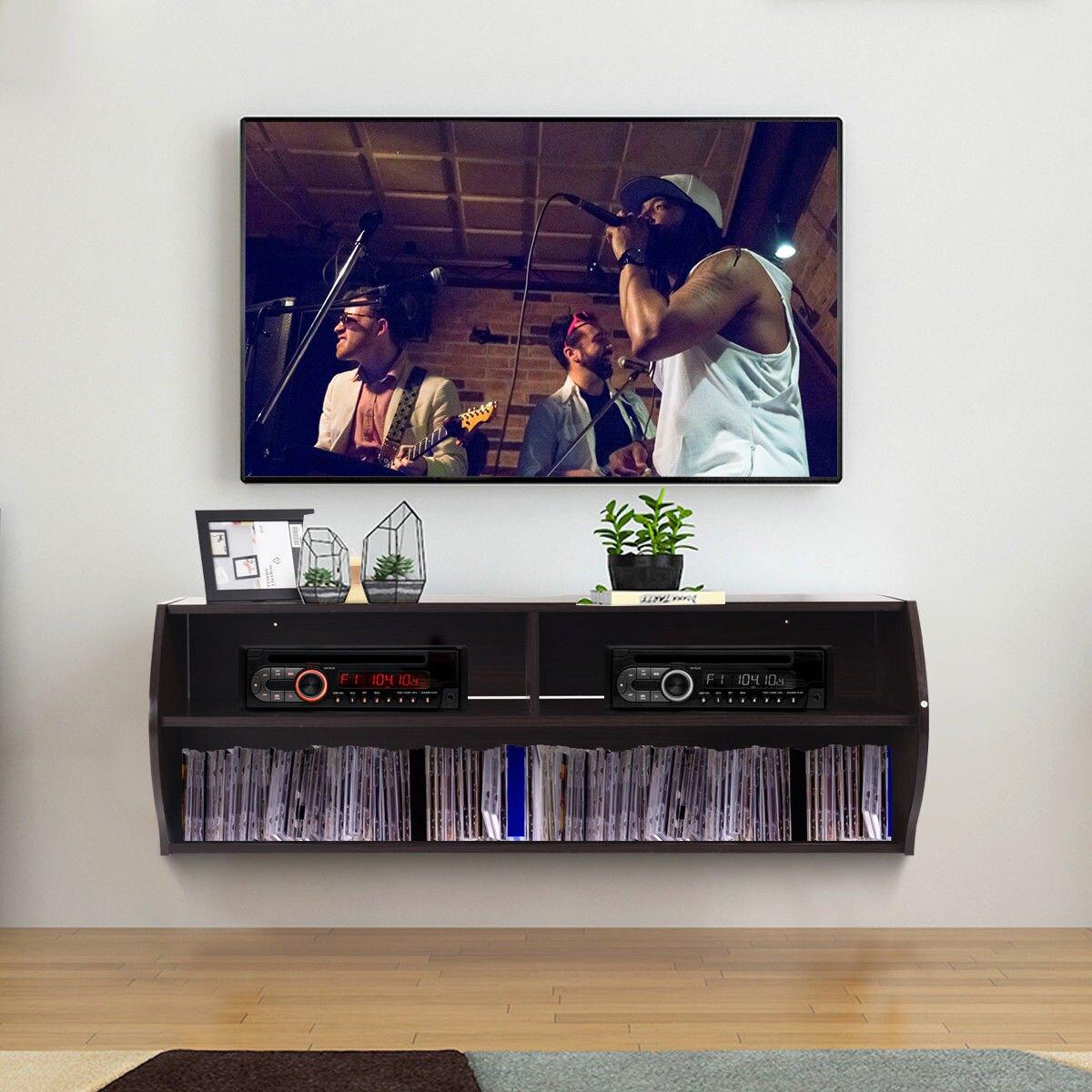 way tier modern floating shelf wall mounted for soundbar hanging audio video supports desk bookshelf combo white melamine shelves coat racks mantel plans media stand ikea narrow