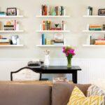 ways decorate with floating shelves decorating large wall living room nine white wood bracket single kitchen shelf hanging cabinets plasterboard walls wide fireplace mantel vinyl 150x150