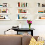 ways decorate with floating shelves decorating shelf configurations living room nine white wall shoe organiser above the desk modern open shelving kitchen ideas media systems bath 150x150