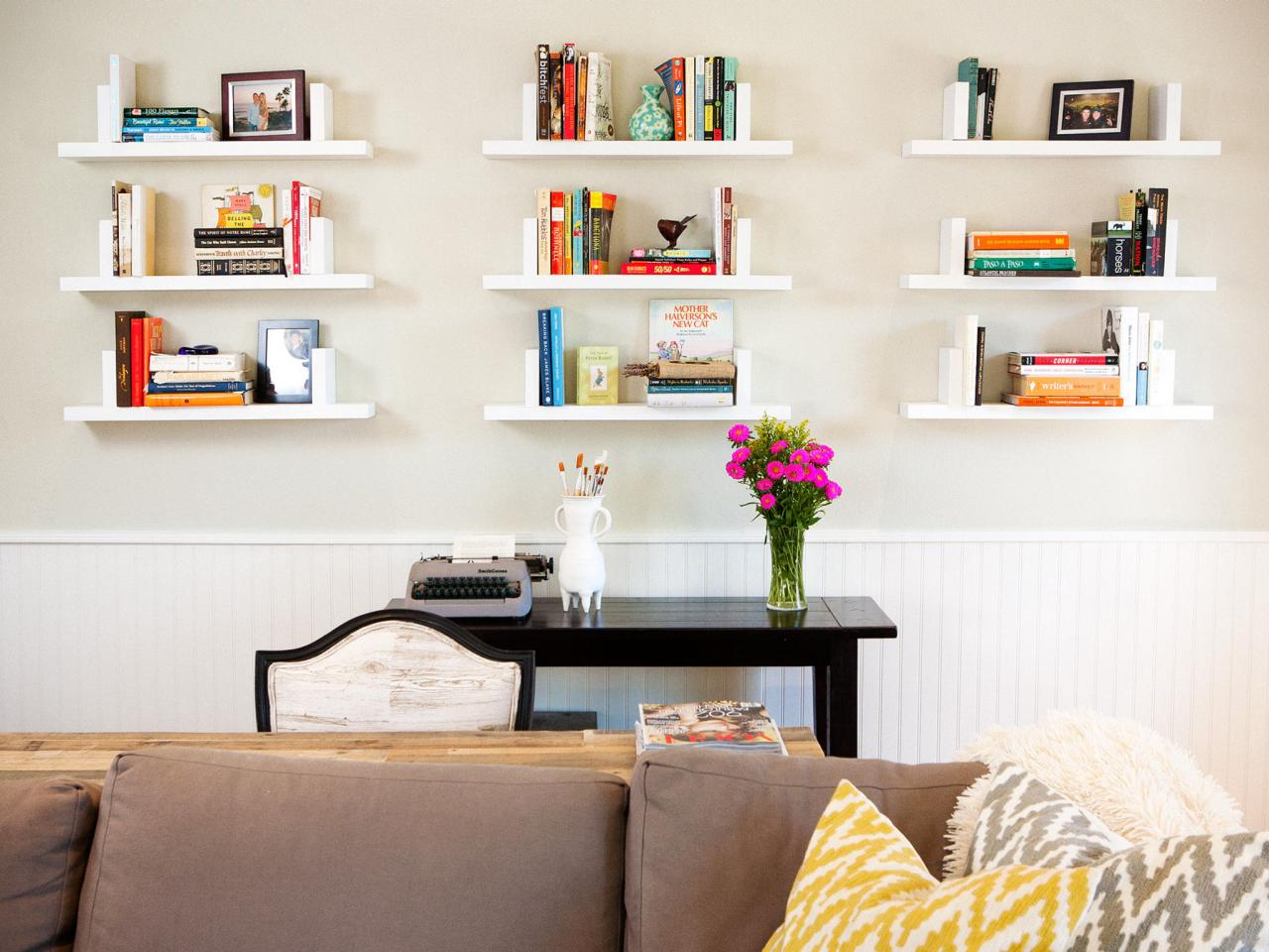 ways decorate with floating shelves decorating shelf configurations living room nine white wall shoe organiser above the desk modern open shelving kitchen ideas media systems bath