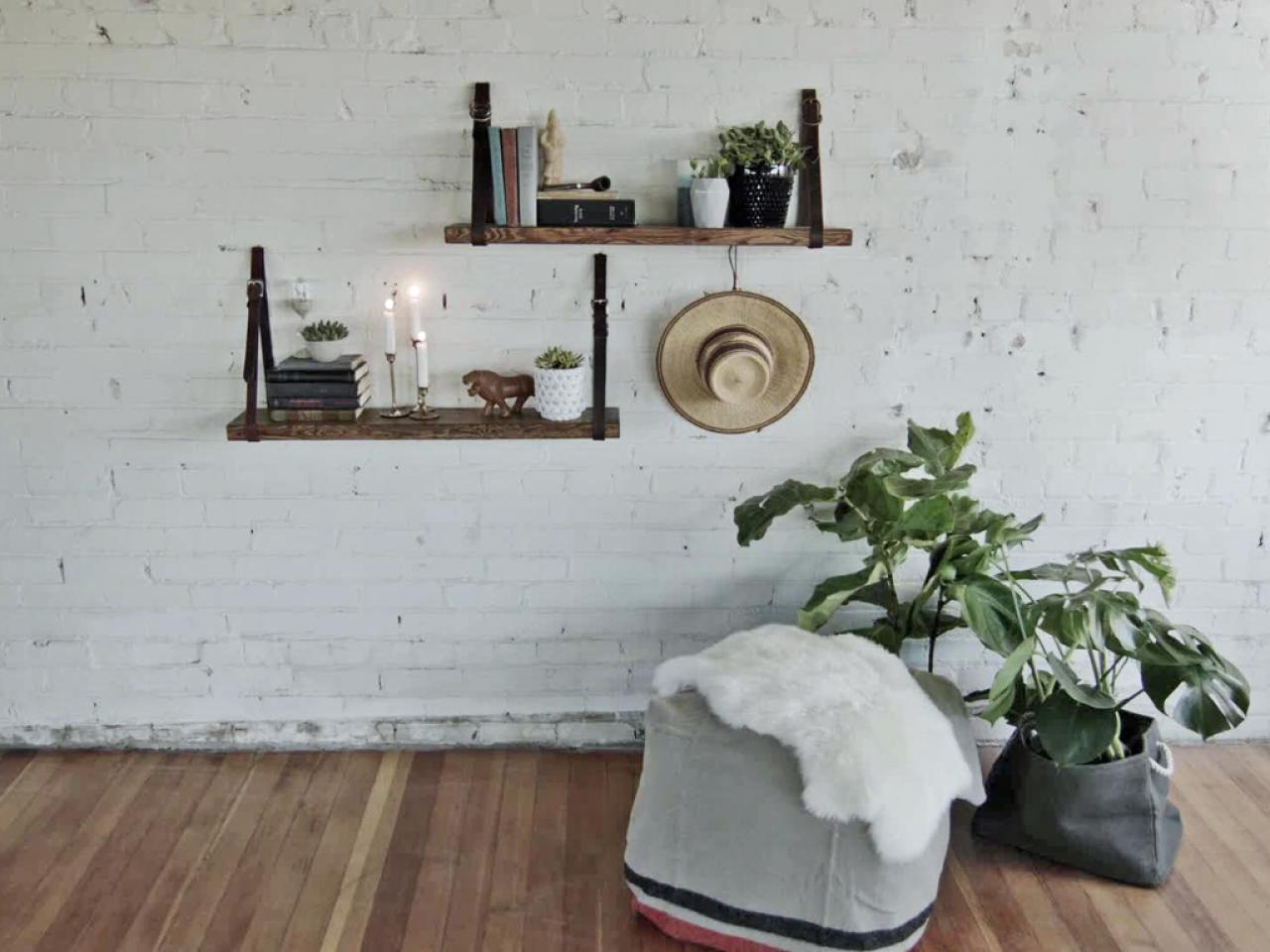 ways decorate with floating shelves decorating shelf living room wall made from old belts latex floor primer for vinyl tile small bathroom stand shoe storage unit suspended garage