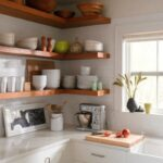 ways diy creative corner shelves kitchen floating target threshold grohe shower system hanger style garage microwave island cabinet oak beam mantle piece and wall pull out glass 150x150