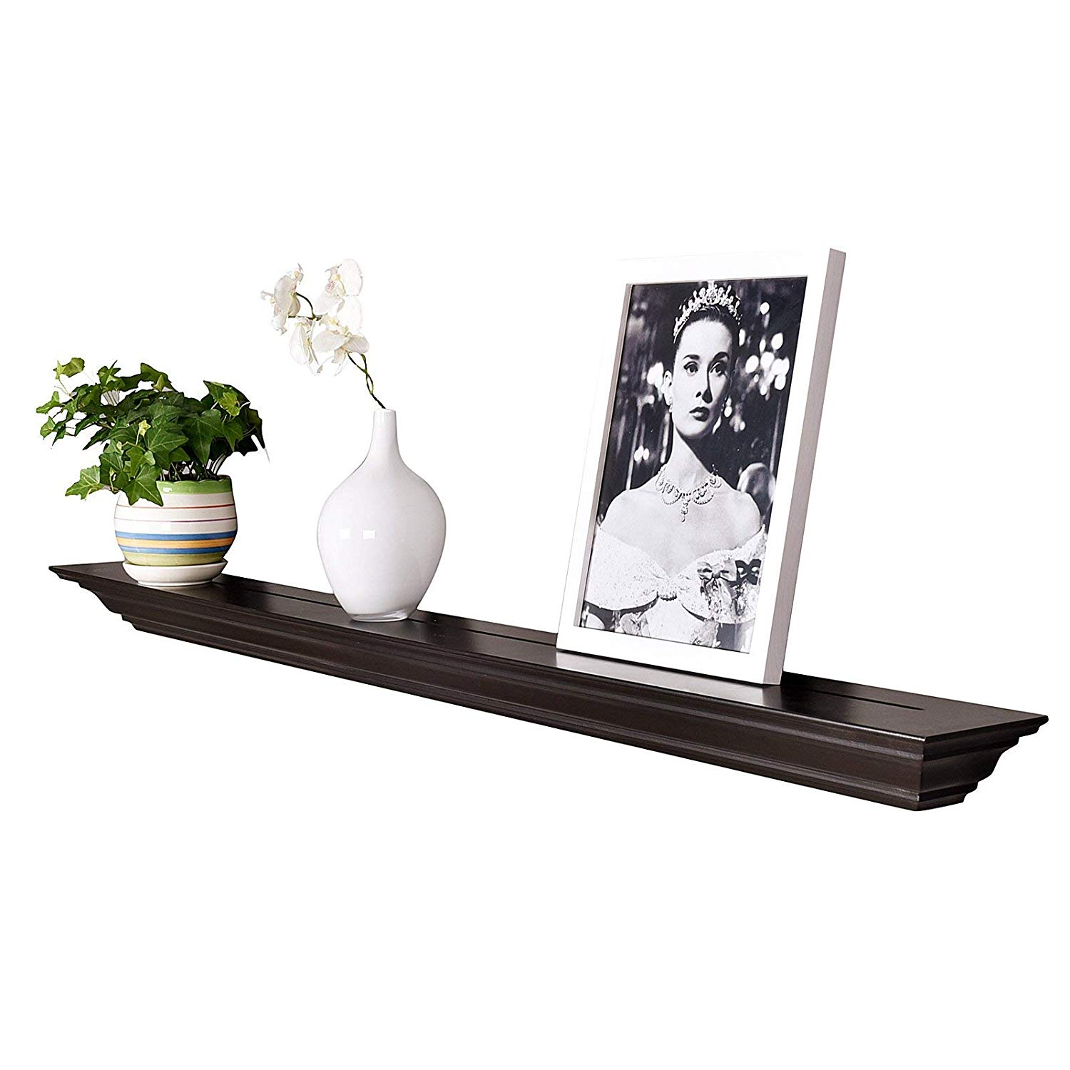 welland corona crown molding floating wall ledge shelf espresso shelves fireplace mantel inch home kitchen long rustic shower booth metal coat stand unit wrought iron and wood
