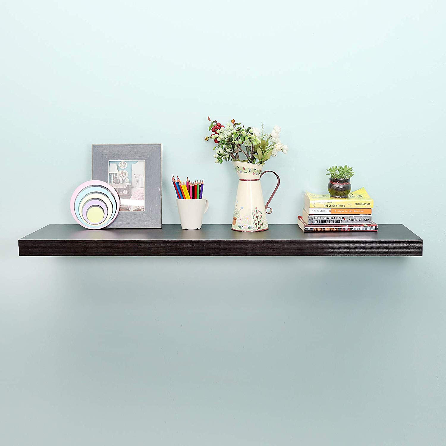 welland deep floating shelves espresso shelf leaning forward deeper than others home kitchen office table with bookshelf industrial shelving systems adhesive make mantel out crown