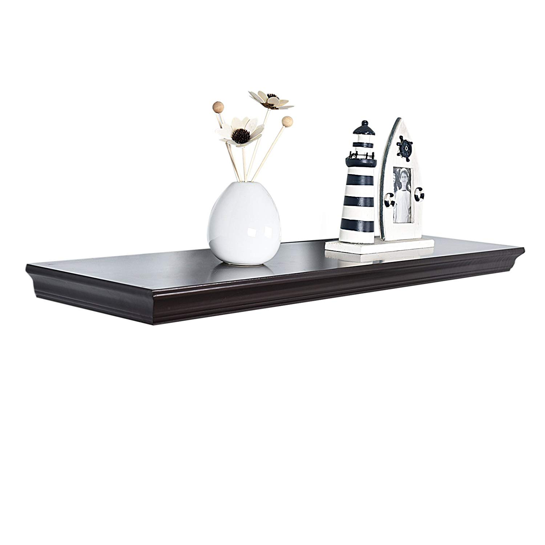 welland floating shelves espresso wood grey gloss for bathroom livingroom bedroom kitchen inch home ikea side table standard depth upper cabinets diy drawer ornamental brackets