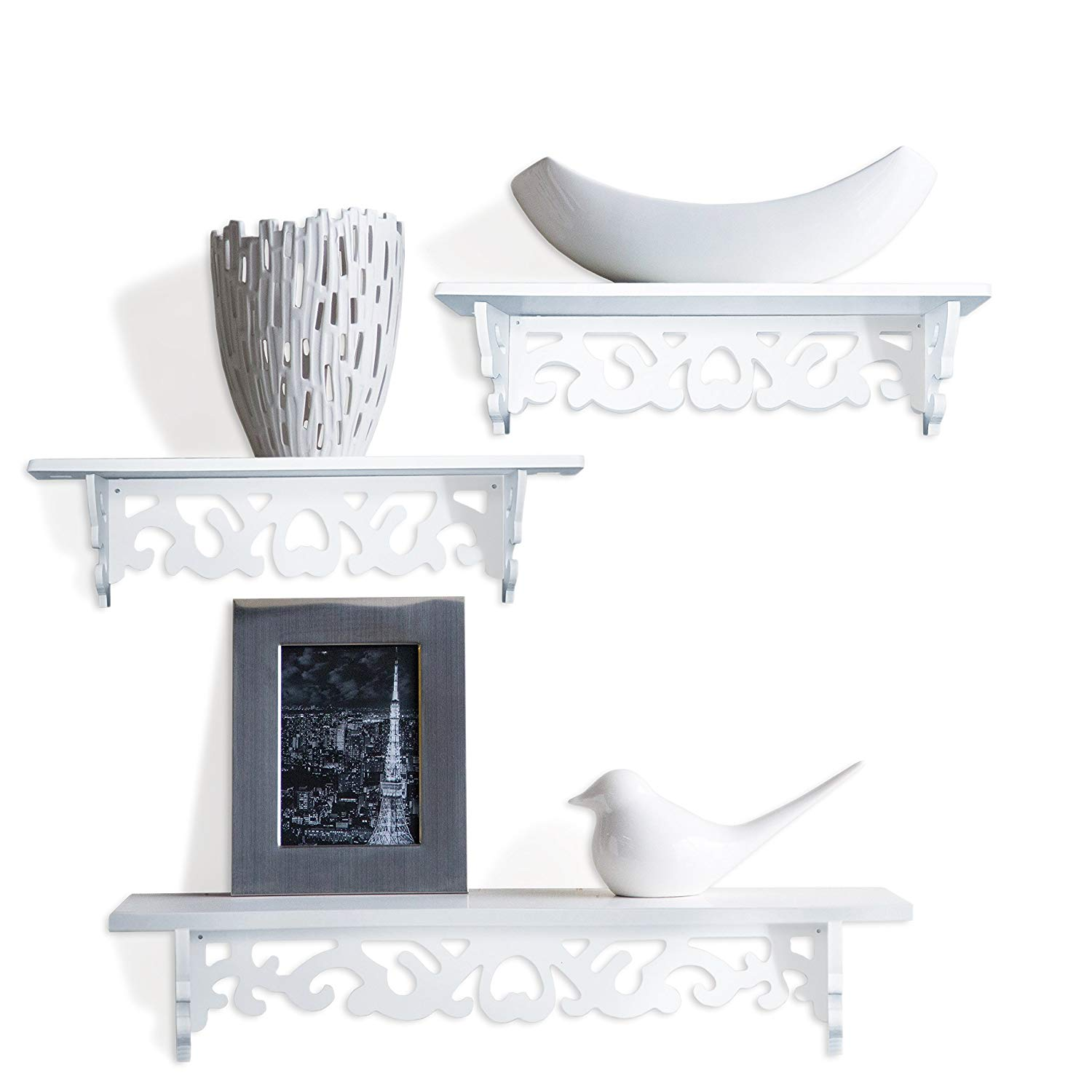 white book shelf floating wall shelves display set inch great for books collections utility design and taste your room easy high television stands whole bookshelf elastilon